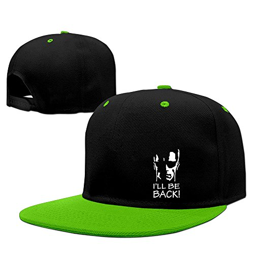 BestSeller Unisex I Will Be Back Hip Hop Snapback Adjustable Baseball Caps/Hats KellyGreen (Terminator Parker)