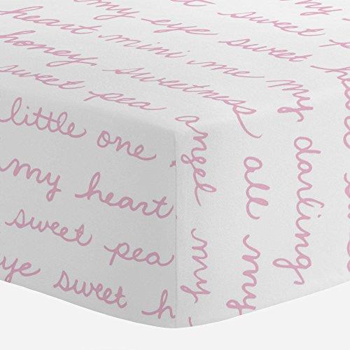 Carousel Designs Bubblegum Pink Sweet Girl Crib Sheet - Organic 100% Cotton Fitted Crib Sheet - Made in the USA