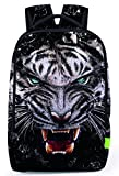 Pizoff Doulbe Mesh Padded Adjustable Shoulder Straps Cute Tiger Print School Bookbags Rucksack Travel Laptop Backpacks Boys Girls Y1799-27