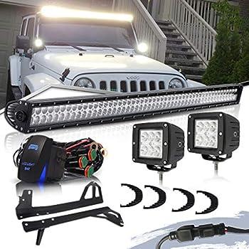 Amazon.com: LED Light Bar YITAMOTOR 50 Inch Combo Light Bar + 2 X 4
