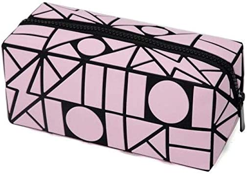 Bolsa de Maquillaje para Mujer con diseño geométrico de cuboide, Organizador de Viaje para niños, Estuche de Almacenamiento, Rosa (Rosa) - 7010165: Amazon.es: Equipaje