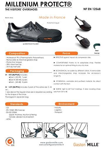 noir Sur new à 35 Pointure Millenium Chaussure coqué 39 rq6qPI