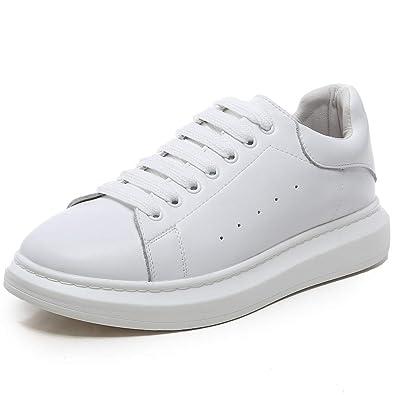 YORWOR Zapatillas de Deporte para Mujer Sneakers para Hombre Plataforma 4.5cm Zapatillas Deportivas de Malla Ligera Unisex Adulto Negro Blanco: Amazon.es: ...