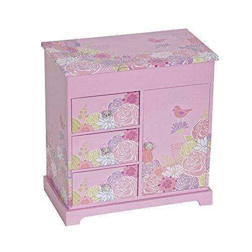 Bloom Box - Mele & Co. Pearl Girl's Musical Ballerina Jewelry Box (Bird & Blooms Design)