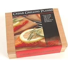 Charcoal Companion CC6022 Cedar Wood Single Serving Grilling Planks, Set of 4