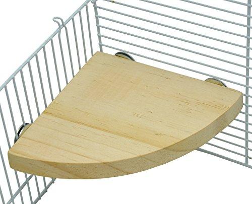 Niteangel-Wooden-Small-Animals-Platform-Fan-Shape-Springboard-for-Cage