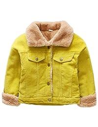 Cromoncent Boy's Winter Corduroy Lapel Fleece Lined Button Down Jackets