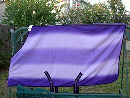Challenger Horsewear 60  Horse Exercise Sheet Polar Fleece Cooler Blanket Purple Wicks Moisture 4326