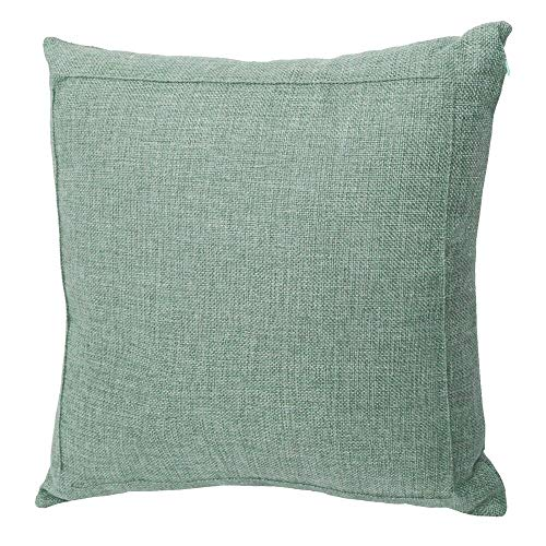 Jepeak Burlap Linen Throw Pillow Cover Cushion Case, Farmhouse Modern Decorative Solid Square Pillow Case, Thickened Luxury for Sofa Couch Bed (22