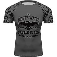 b638b758f Men Night's Watch Tights Blouse Digital Print Gym Top Custom Singlet Tee  Shirt