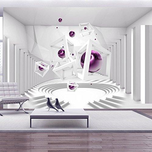 Vlies Fototapete 400x280 cm - 3 Farben zur Auswahl - Top - Tapete - Wandbilder XXL - Wandbild - Bild - Fototapeten - Tapeten - Wandtapete - Wand - Abstrakt 3D a-A-0173-a-c