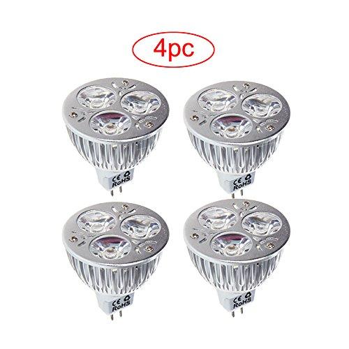 Docooler 4PC Dimmable 9W MR16 White LED Light Spotlight L...