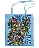 - YORKIE LUV - cute dog love - Dean Russo - Heavy Duty Tote Bag, Light Blue
