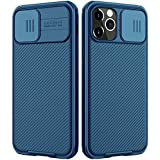 imluckies Compatible with iPhone 12 Pro / 12 Case with Camera Cover, Hard PC Back & Soft Bumper, Protective & Slim Fit, Camer