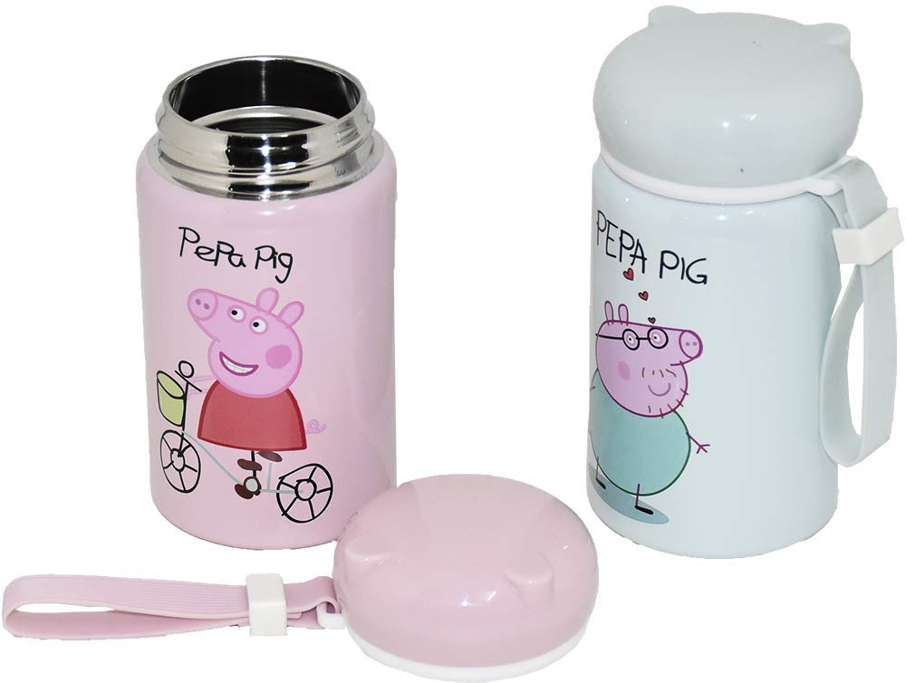 PEPPA PIG MILK AND JUICE CARTON HOLDERS NO MORE SPILT BEVERAGES CUP HOLDER