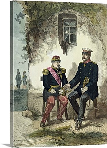 Meeting between Otto von Bismarck and Napoleon III at Donchery Gallery-Wrapped Canvas