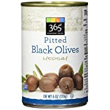 365 Everyday Value Pitted Black Olives Medium, 6 oz