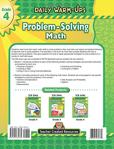 Amazon.com: Daily Warm-Ups: Problem Solving Math Grade 4 (Daily ...