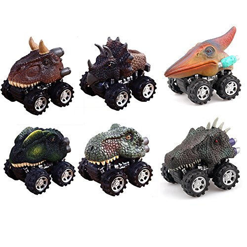 Dinosaur Car (Dinosaur cars, 6 PACK Pull back cars 2.8in cars 3-15 Year Old Creative toys)