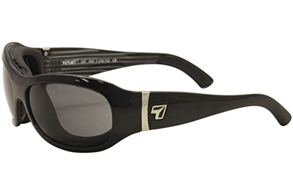 33598fab56 Amazon.com  7Eye Sunglasses - Briza   Frame  Glossy Black Lens ...