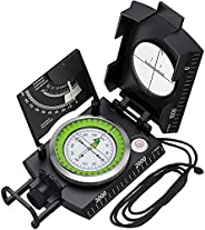 Proster Professional Compass Metal Waterproof IP65 Compass Sighting Clinometer with Carry Bag for Camping Hunt