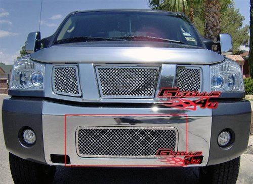 (APS N75413S Chrome Grille Replacement for select Nissan Titan Models)
