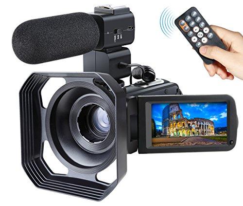 Video Camcorder,Ansteker Remote Control WiFi Vi...