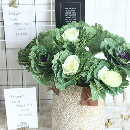 (m·kvfa Artificial Fake Grass Flower Grass Home Garden Wedding Floral Sweet Decor Plant for Outdoor Planters Indoor Outside Home Garden (B))