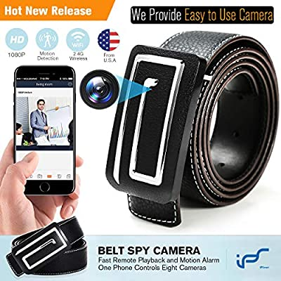 IPS IP Smart Hidden Camera Nanny Cam Wireless Hidden Spy Camera WiFi Belt Mini Spy Hidden Camera with Motion Detection 1080P Spy Video Camera Recorder with Playback by IPS IP SMART