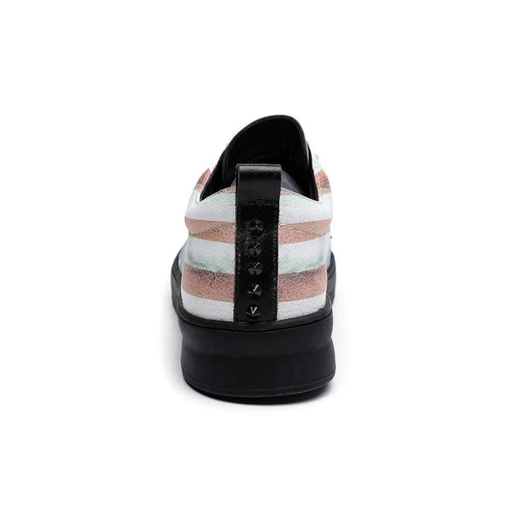 ZHRUI   Herren Fashion Echtes Leder Lace Sohle up Loafers Handgemachte weiche Sohle Lace Freizeitschuhe (Farbe : Schwarz, Größe : EU 40) Schwarz 4048bc