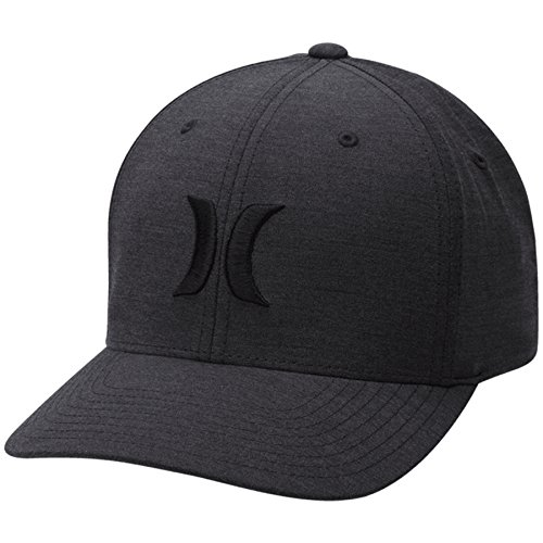 Hurley Men's Black Textures Hat, Black Pin 019, s/m ()