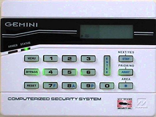 Napco GEM-K1CA Gemini Designer Keypad with Stay and Away by Napco