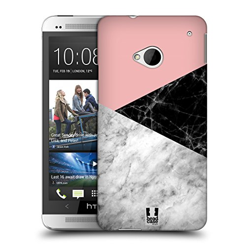 Head Case Designs Colour Blocking Marble Trend Mix - Htc One M7 Phone Case