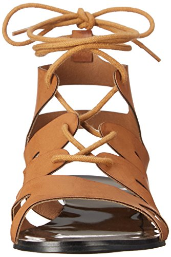 Cognac C Flatty LABEL LABEL C Wedge Sandal Womens 14 vPxUcB