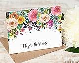 MULTI FLOWER FOLDED - Personalized FOLDED Stationery Set