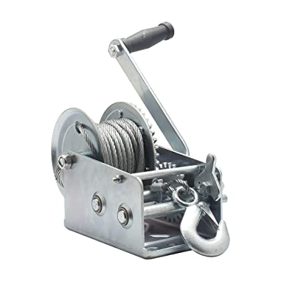 OPENROAD Hand Winch Crank Gear Winch, Heavy Duty, up to 2500 lbs for Trailer, Boat or ATV: Home Improvement [5Bkhe1501972]