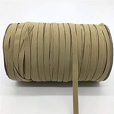 Jammas 32 Colors 5 Yards 7mm Elastic Band Multirole Trim Ribbon Sewing Spandex Lace Trim Waist Band Garment Accessory - (Color: Khaki): Garden & Outdoor