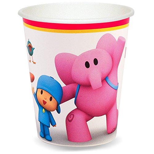 Pocoyo Party Supplies - 9 oz. Paper Cups (8) - Pocoyo Costume