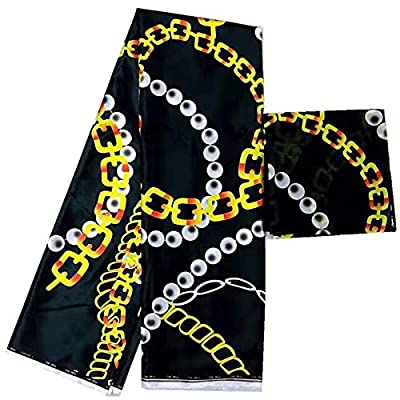 Chiffon Fabric | New Design Imitated Silk Wax Materials Nigerian Silk Chiffon Fabric African Fabric Ankara Wax Prints Fabric 6Yards | by BINOCA