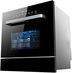 Smart dishwasher STBD-Compact Countertop Dishwasher, Built-in Dishwasher, 6 Places, Benchtop High Temperature Sterilization Decontamination Dry Brush Cupboard -59.55162.5cm-Black