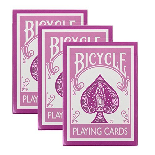 Bicycle Pink Playing Cards - 3 - Pink Cards Playing