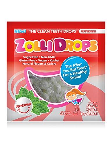 Zolli Drops By Zollipops, PEPPERMINT, Clean Teeth Drops, Anti Cavity, 15 Count