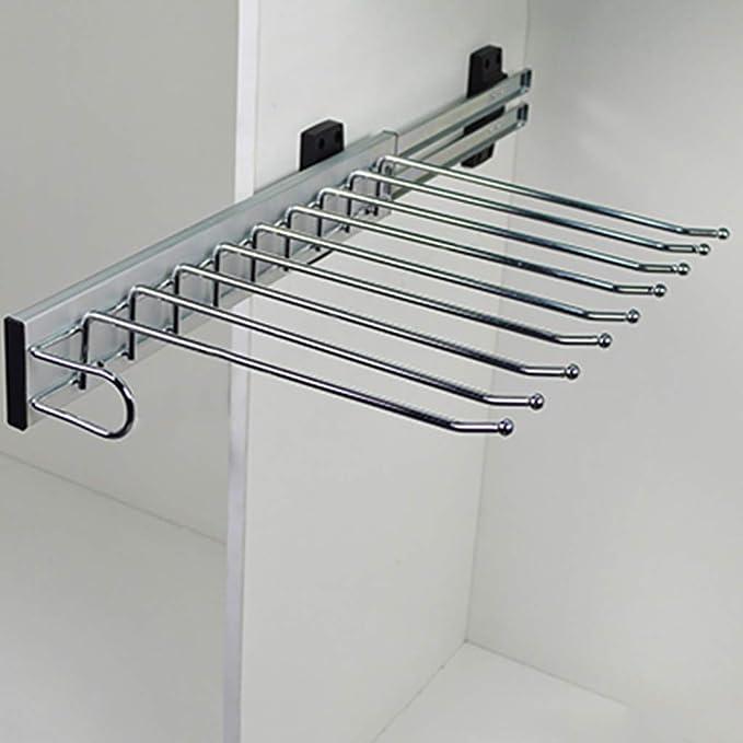 Stahl verchromt poliert 465x100x480 mm SOLIDO 49900005 Hosenauszug Karat 10 schwenkbar