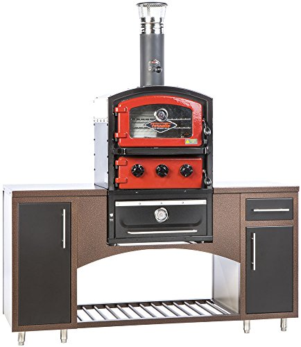 Alfresco Home 82-1004 Fornetto Alto Wood Fired Oven & Smoker for Built-In Use, Brick by Alfresco Home (Image #1)
