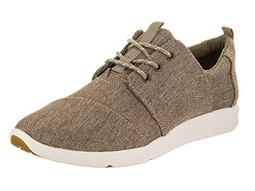 TOMS Women's Del Rey Sneaker Desert Taupe Poly Canvas Oxford