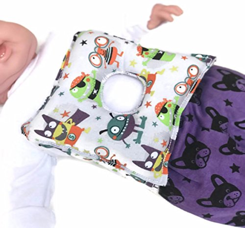 Superhero Monsters G-tube Pillow Belt for Infant Tummy Time - Tummy Tube