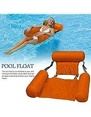 كرسي مياه للبالغين قابل للنفخ من تي كيه لحمام سباحة، كراسي مريحة عائمة في البحيرة والمسبح، مقاعد لحمام السباحة، سرير مائي قابل للحمل للسفر في الصيف