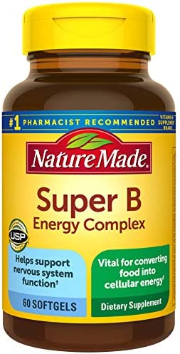 Nature Made Super B Energy Complex Softgels, 60 Count for Metabolic Health (Packaging May Vary)