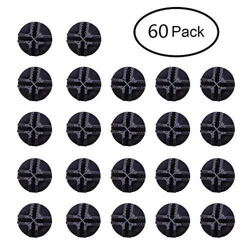 FLAT Wire Cube Plastic Connectors snap mesh organizer grid NEW! FLAT (60, Black)