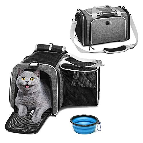 ACCOFASH Pet Travel Outdoor Backpack Carrier Airline Approved Foldable...
